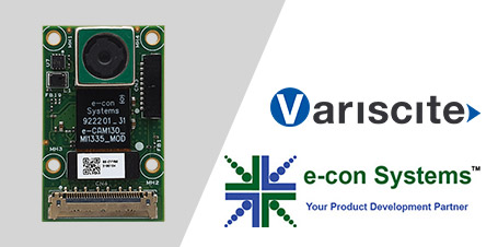 Variscite and e-con Systems collaborate to launch an Ultra-HD MIPI Camera for NXP's i.MX8 family